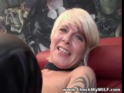 Check My MILF tattooed granny pumping pussy