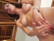 hot brunette pussy masturbation