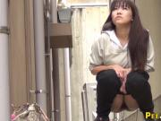 Asian teens pee squatting