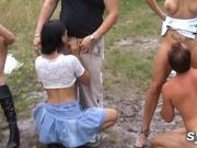 Hot SLUTS who share public sex between amateurs