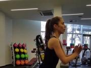 Serbian Hot Model Danica Working Out