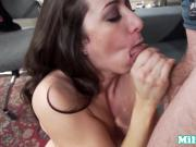 Cocksucking milf jerking and giving blowjob