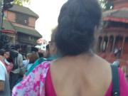sexy nepali aunty blouse back