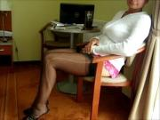 So mostly I'm wearing underneath. My FF nylon stockings.
