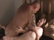 Sexy BBW let's boyfriend cum inside her for the second time while hubby videos it.