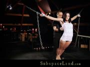Hard obedience lessons for brunette slave