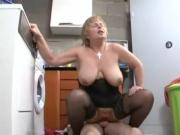 Granny fucks the repairman