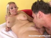 Buffed up guy cums on his hot stepmom's face