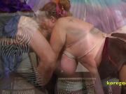 Bound Big Tits slut sucks cock for America