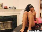 Beautifull Petite Black Chick Remy Pussy Play Glass Cock