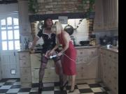 Madame C and Angelica in the kitchen