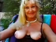Grannie have beautyful sex outdoor