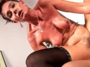 Very hot & sexy mom with hairy cunt & man