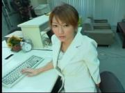 MATSUSHIMA Kaede in the office