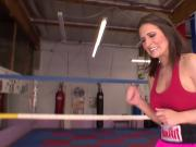 Cheating milf gets fucked in boxing ring