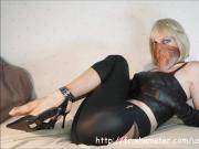 Cat Eyed Sandra Jayde Fetish Tease Tits Tights Spandex Feet