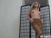 I will help you jerk off in my pantyhose JOI