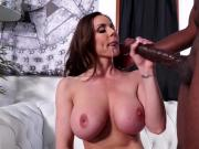 Kendra Lust sucks massive black dick then gets fucked