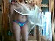 Arab woman dancing and showing