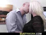 He screws plump blonde bbw