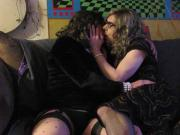 Crossdresser Laura in a hot make out session