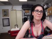 Interracial amateur spex babe facialized POV
