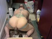 Vacuum Pumping my Already Wrecked Man Pussie