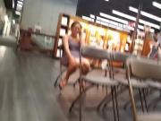 Candid legs sitting