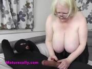 Sally makes sure the burglar gets a hardon