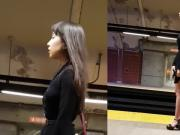 Sexy Asian Girl in the subway