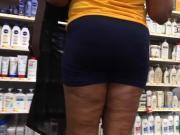 Mature Ebony MILF Booty Spandex Shorts