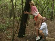 Dane Jones Naughty blonde gets ass eaten outdoors