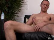 Cute military stud jacks off his cock in front of a camera