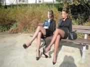 Ladies In Seamed Stockings & Louboutin Heels