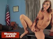 Sensual shemale goddess pulling cock solo