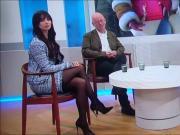 Sexy nylon legsand high heels in TV