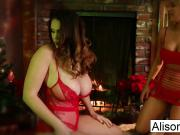 Alison celebrates Christmas by fucking Briana