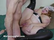 Watch her smile as she has her ass fucked