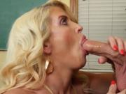 Hot Blonde MILF Fucks