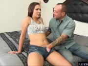 Jaye rims her step dad so he wont tell her mom about nude pi