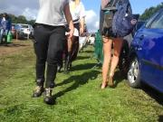 Festival Tight Lycra Knicker Shorts Arse Cheeks Slender Teen