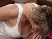 Horny MILF Brett Rossi pounded and creamed on a cozy sofa