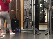 working out at gym