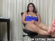 You are a nasty little cum eating pervert CEI
