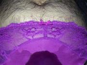 Pissing outdoors in iltwlp's purple panties