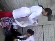 Pakistani girls changing burka in open