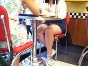 chubby teen sexy legs upskirt in short skirt