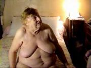 Fat granny sucking dick.