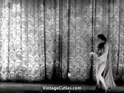 Mature Lady Strips on the Stage 1940s Vintage