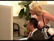 Blonde Cougar wants some Dick at work